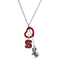 NCSU Silver Multi Logo Necklace Licensed College Jewelry
