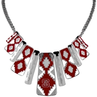 North Carolina State Aztec Print Necklace | Nova
