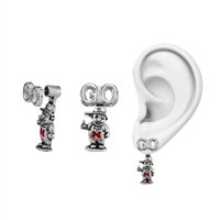 University of Nebraska Evie Mascot Stud Earrings