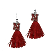 Tassel Charm Earrings University of Nebraska