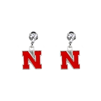 Dangle Logo Charm Earrings | Nebraska