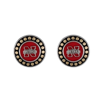 Round Pendant Earrings Nebraska Huskers