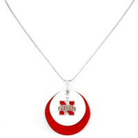 Silver Necklace Nebraska Cornhuskers