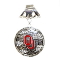 Ornate Scarf Pendant University of Oklahoma