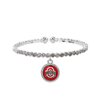 College Fashion Crystal Ohio State University Logo Charm Cuff Breeze Bangle