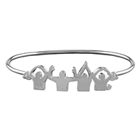 Unique & Limited Edition O-H-I-O Pride Charm Cuff Bangle Bracelet