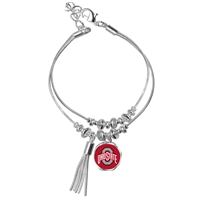 College Fashion Ohio State University Logo Ball Kuiper Belt Cuff Bangle Bracelet