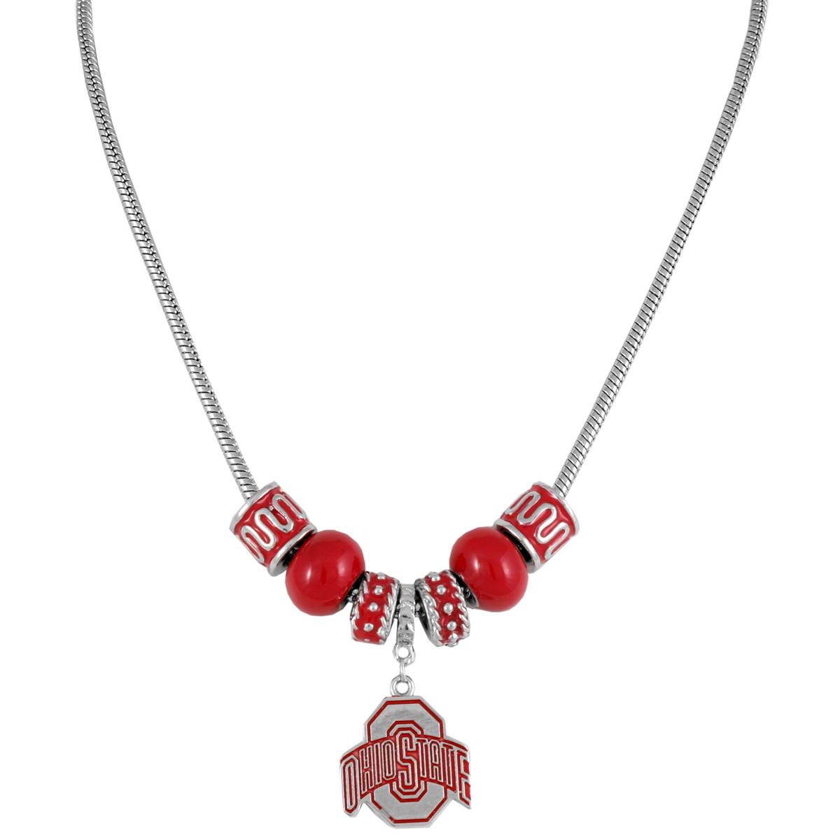 Charm necklace ohio state university buckeyes collegiate necklace charm necklace ohio state buckeyes aloadofball Image collections