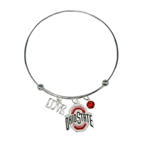 Coil Love Silver Charm Bracelet OSU Bangle Silver Jewelry