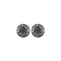 Ohio St Circular Script Earrings | Eunice
