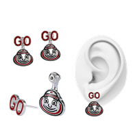 Ohio State University Evie Earrings