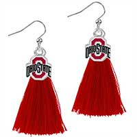 Tassel Charm Earrings Ohio State University
