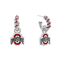 OHIO STATE 4039 | CANDY CANE EARRINGS