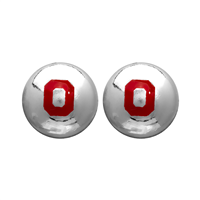 College Fashion Ohio State University Logo Ball Star Stud Earrings
