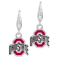 College Fashion Ohio State University Logo Charm Stud Dangle Elma Earrings