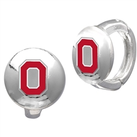 College Fashion Ohio State University Logo Tack Enza Stud Cuff Hoop Earrings