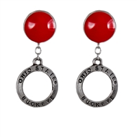 Circular Dangle Earrings | Ohio State