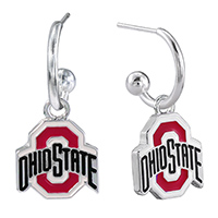 Dangle Logo Earrings Silver College OSU Jewerly
