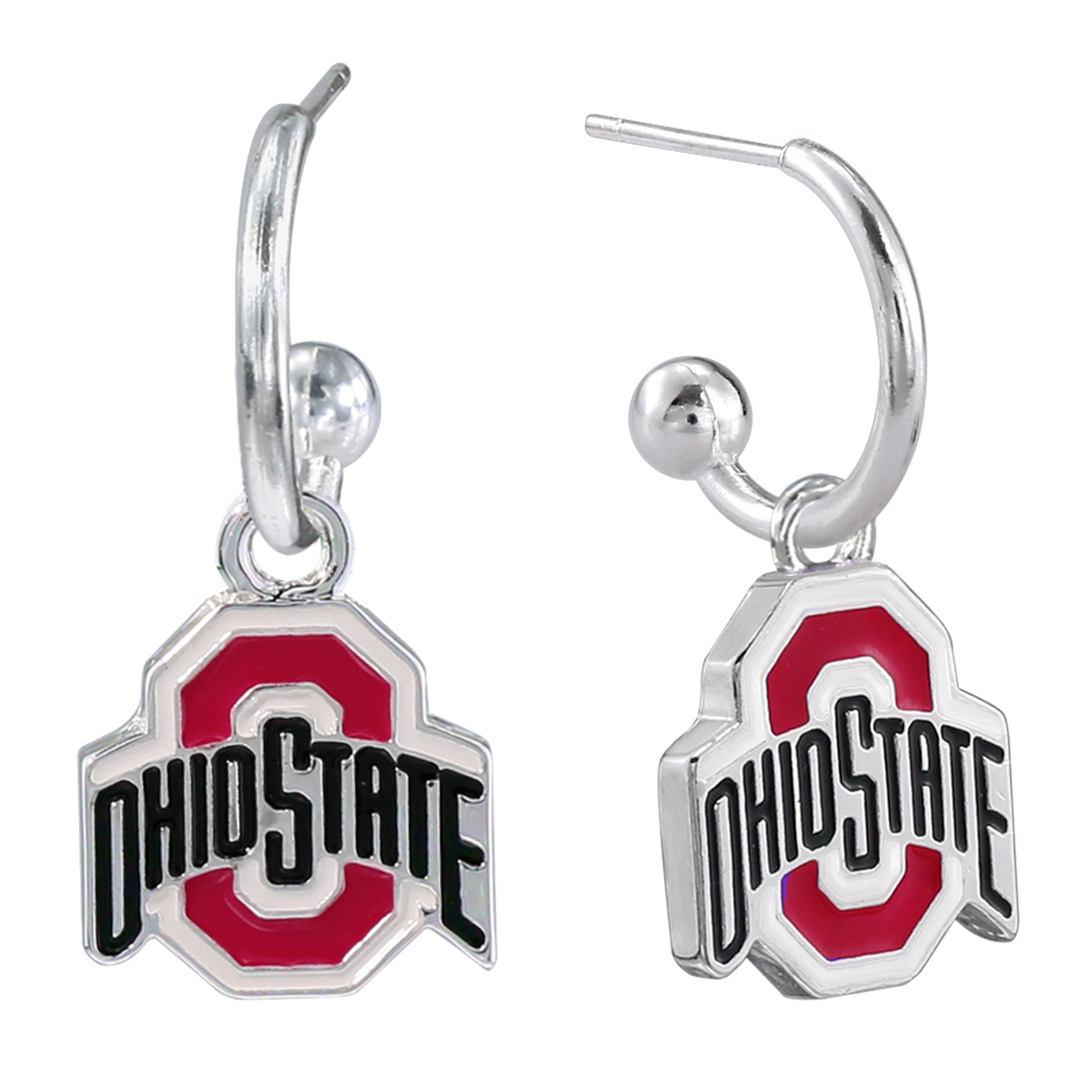 ohio state home decor.htm dangle logo earrings ohio state university buckeyes  dangle logo earrings ohio state