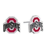 College Fashion Ohio State University Logo Charms Stud Elise Earrings