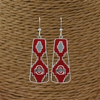 Ohio State Aztec Print Earrings | Elaine