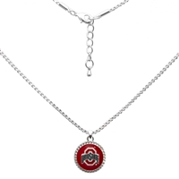College Fashion Ohio State University Logo Charm Nessa Necklace