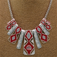 Ohio State Aztec Print Necklace | Nova