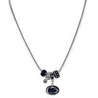 Silver Beaded Charm Necklace PSU