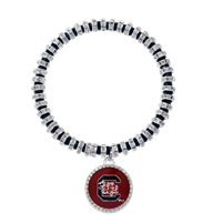 College Fashion Crystal University of South Carolina Logo Charm Bicks Bracelet