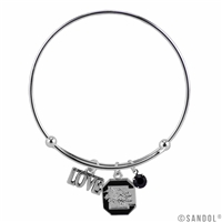 Coil Love Silver Charm Bracelet South Carolina Gamecock Bangle Silver Jewelry