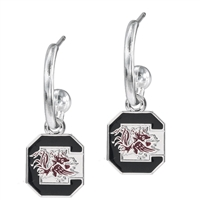 Dangle Logo Earrings Silver College University South Carolina USC SC