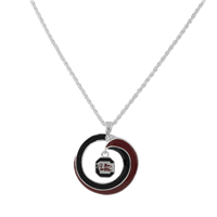 SWIRL LOGO NECKLACE