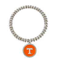 College Fashion Crystal University of Tennessee Logo Charm Bicks Bracelet