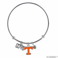 Coil Love Silver Charm Bracelet Tennessee Vols Bangle Silver Jewelry