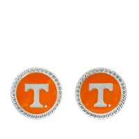 College Fashion University of Tennessee Logo Charm Stud Eudi Earrings