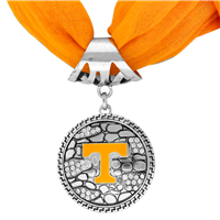 College Fashion University of Tennessee Crystals Ornate Scarf Pendant Charm