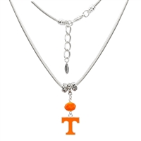 TENNESSEE 6025 | Silver Charm beaded Logo Necklace