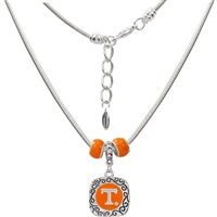 Two Sided Square Logo Charm Necklace | Tennessee