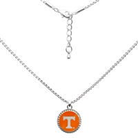 College Fashion University of Tennessee Logo Charm Nessa Necklace