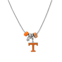 College Fashion Crystal University of Tennessee Logo Charms Natalya Necklace