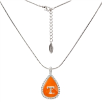 Teardrop Logo Silver Chain Necklace | Tennessee