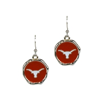University of Texas Classic Disc Earrings