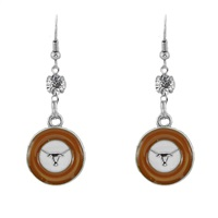 Silver Texas Longhorn Earrings
