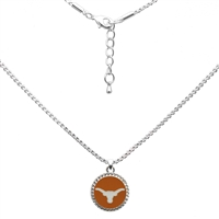College Fashion University of Texas Logo Charm Nessa Necklace