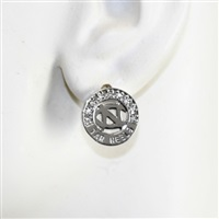 Silver Studded Circle Earrings | North Carolina