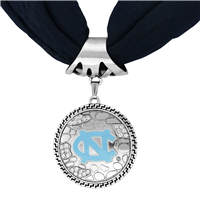 College Fashion University of North Carolina Crystals Ornate Scarf Pendant Charm