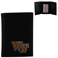 Men's Tri-Fold Wallet Wake Forest Demon Deacons