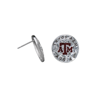 Eunice Circular Script Earrings Texas A&M University