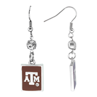 Square Dangle Earrings Texas A&M Aggies