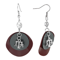 TEXAS A&M 416 | Double Layer Charm Earrings